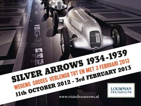 Silver Arrows tentoonstelling Louwman Museum