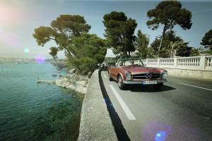 Op weg in een klassieke SL: exclusieve klassiekertours voor Mercedes-Benz liefhebbers
